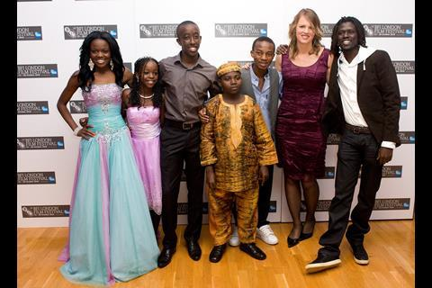 Africa United's young cast with director Debs Gardner-Paterson